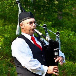 Pipe Major Sheldon C. Hamblin, Bagpiper, Cape Cod