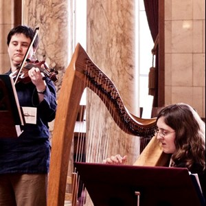 Madison, WI Celtic Harpist | Rachel Avery (harp, piano) & Terri Pepper (violin)