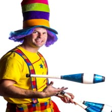 Lathrop Clown | Silly Ricky's Juggling And Fun!