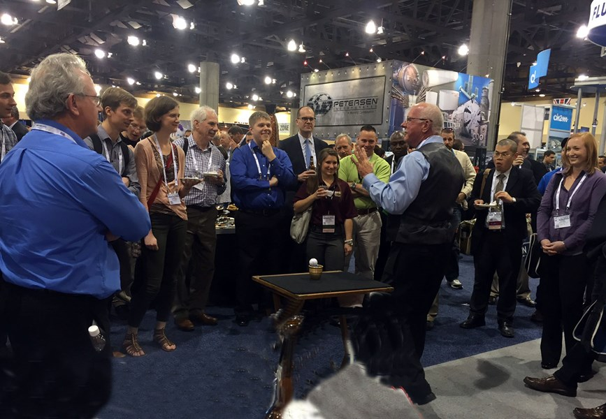 Trade Show Magic Draws A Crowd.