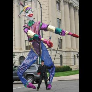 Aztec Clown | Bill Coleman Entertainment- Stretch The 9 Ft Clown