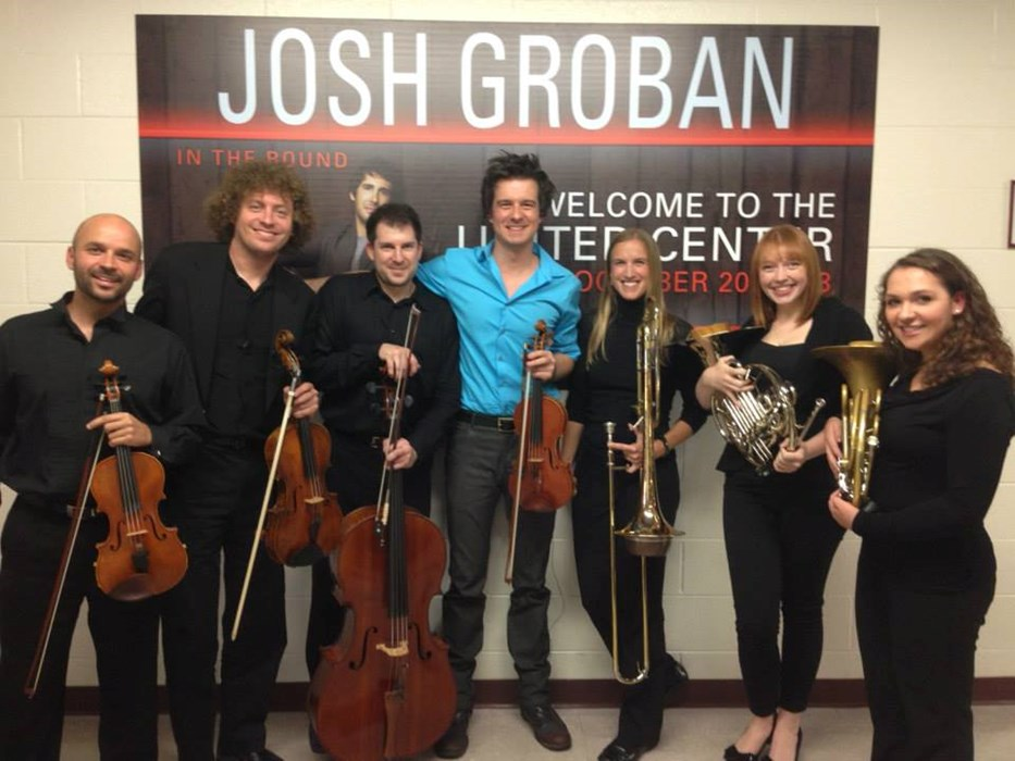 Performing with Josh Groban!