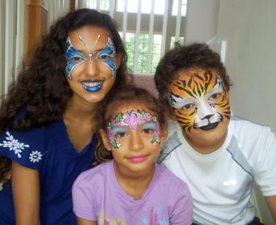 Artistic Face painting designs!