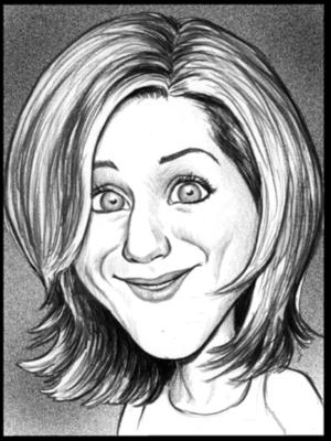 B&W studio caricature