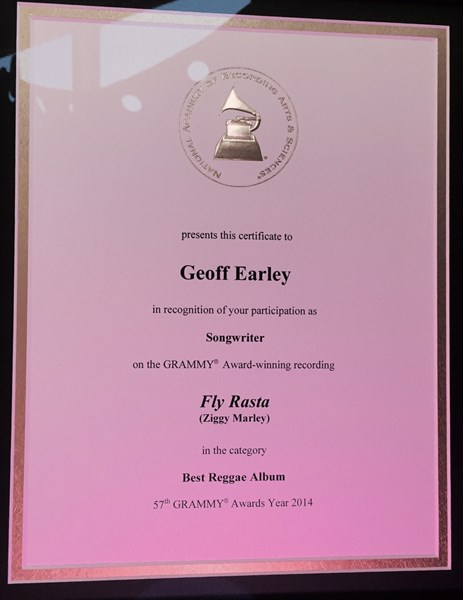 2014 Grammy Award for Ziggy Marley