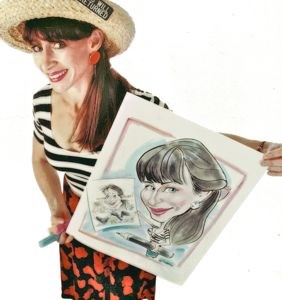 Atlantic City Caricaturist | Art Girl Caricatures by Debbie Schafer