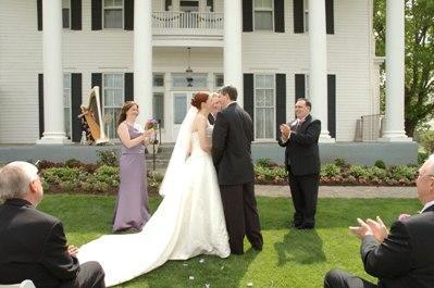 Harpist wedding
