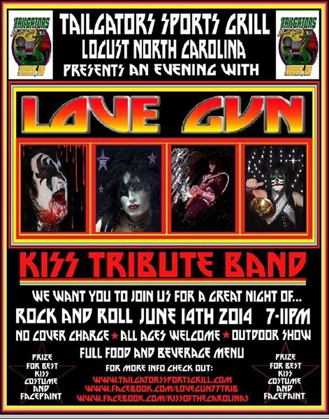 Love Gun - Kiss Tribute Band - Charlotte, NC