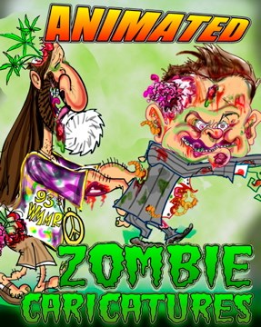DIGITAL ZOMBIE CARICATURES ANIMATED