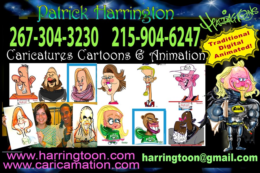 Harringtoons Caricatures Cartoons & Animation  - Caricaturist - Philadelphia, PA