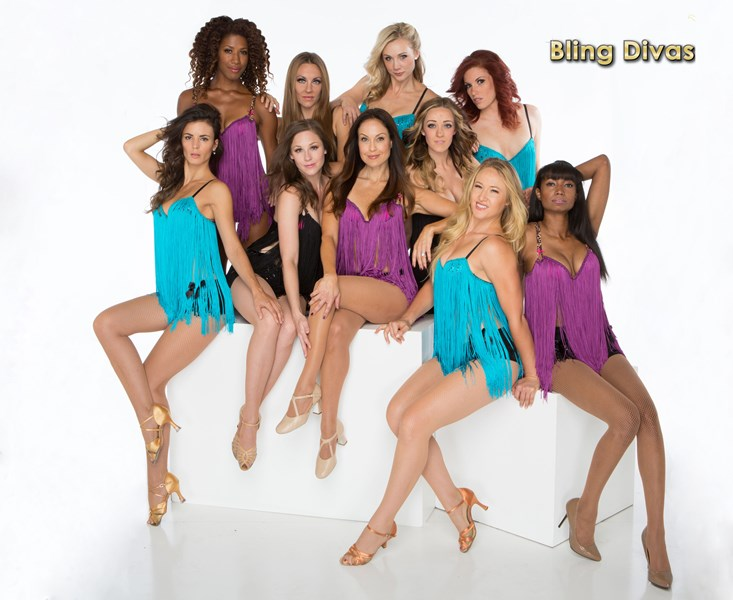 BLING DIVAS Showgirls Burlesque Can-Can Cabaret - Dance Group - Los Angeles, CA