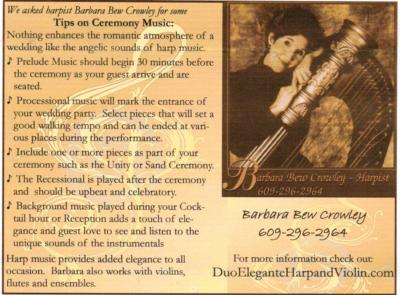 Harpist Barbara Bew Crowley | Atlantic City, NJ | Harp | Photo #1
