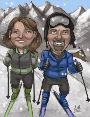 Ash Jackson & Andrew Richardson | Hopkinton, MA | Caricaturist | Photo #22