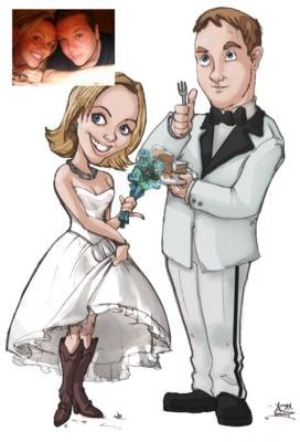 Ash Jackson & Andrew Richardson | Hopkinton, MA | Caricaturist | Photo #2
