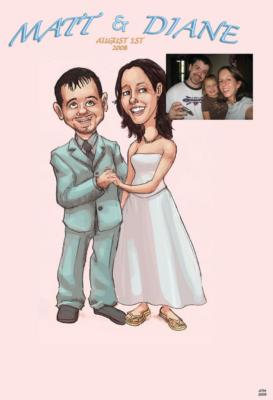 Ash Jackson & Andrew Richardson | Hopkinton, MA | Caricaturist | Photo #3