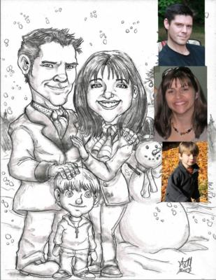 Ash Jackson & Andrew Richardson | Hopkinton, MA | Caricaturist | Photo #13