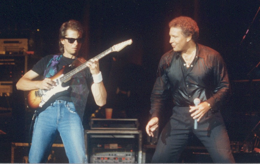 Performing with Tom Jones