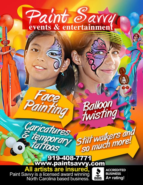 Paint Savvy - Face Painter - Raleigh, NC