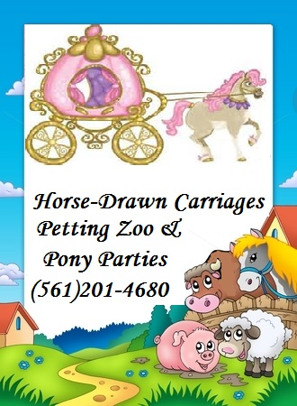 Every Kids Dream Petting Zoo, & Horse Carriage - Event Limo - Loxahatchee, FL
