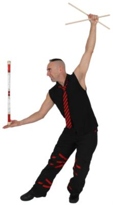 Aaron Bonk-Comedy Juggler Whips Stilts Fire | Clearwater, FL | Juggler | Photo #13