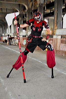 Aaron Bonk-Comedy Juggler Whips Stilts Fire | Clearwater, FL | Juggler | Photo #12