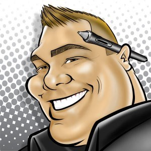 Austin, TX Caricaturist | Live Digital Caricature by Rob