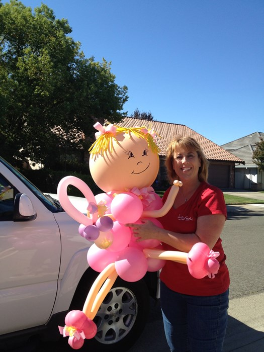 Giant balloon baby for Baby Shower