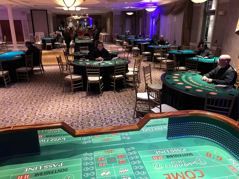 Casino tables and dealers!