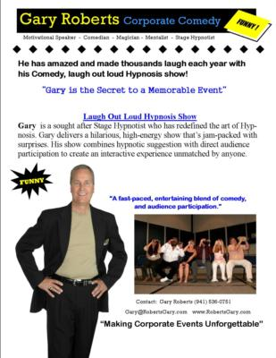 #1Comedian Magician Hypnotist Gary Roberts | Lakewood Ranch, FL | Comedy Hypnotist | Photo #10
