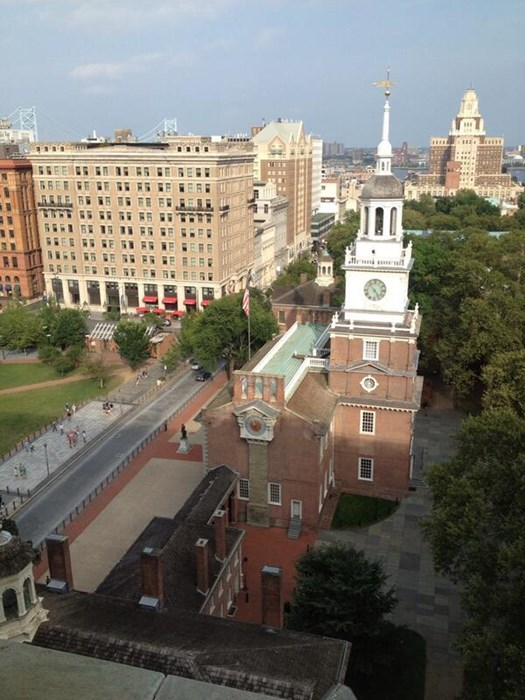 Wedding above Independence Hall!