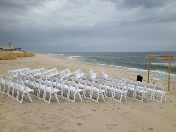 Beach wedding on the Jersey Shore