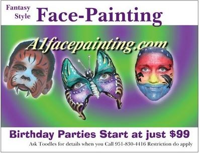 A1facepainting by Toodles