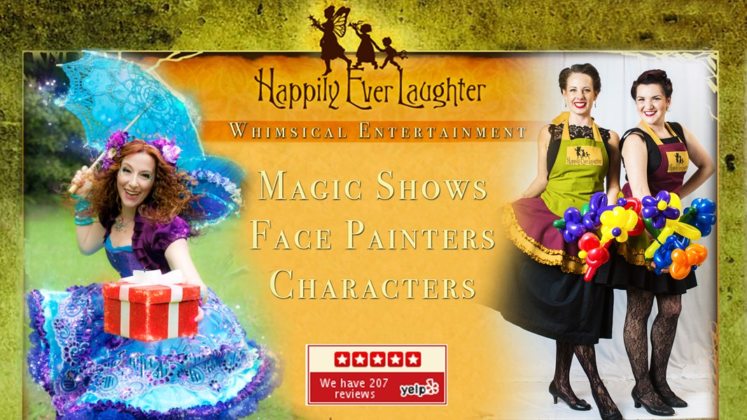 Happily Ever Laughter- Face Painters & Characters  - Princess Party - Los Angeles, CA