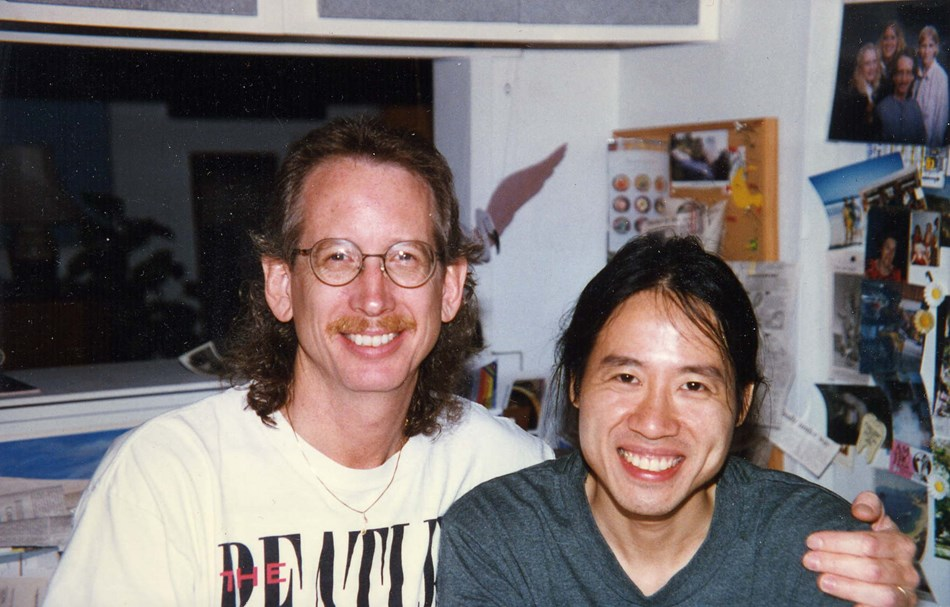 My producer David Chu and I