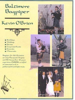 Kevin O'Brien | Baltimore, MD | Bagpipes | Photo #4