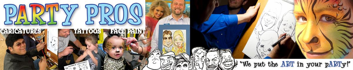 Caricatures & Face Paint by Party Pro Art