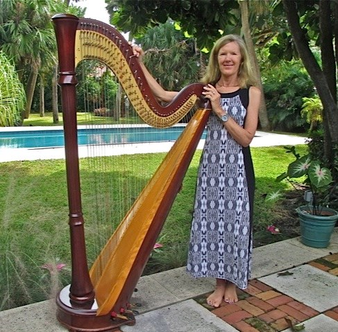 With my concert harp