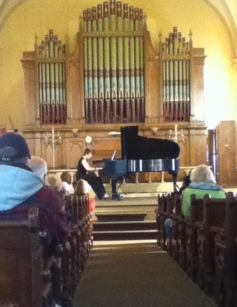 piano recital at The Old Church