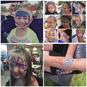 Burleson Face Painter | Merry Heart Party Painting & Glitter Tattoos