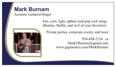 Mark Burnam | Fort Lauderdale, FL | Pop Guitar | Photo #7