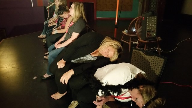These two ladies are out cold!