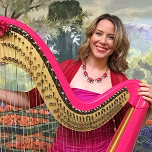 Los Gatos One Man Band | Erica Messer, Pop Music Harpist, Singer