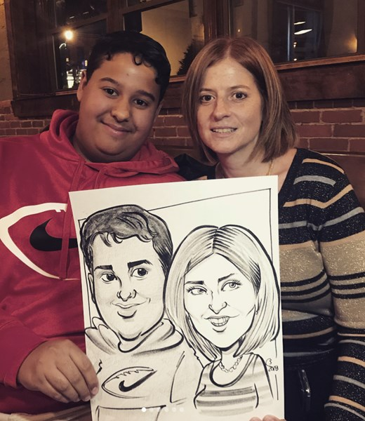 Holiday Party Caricature