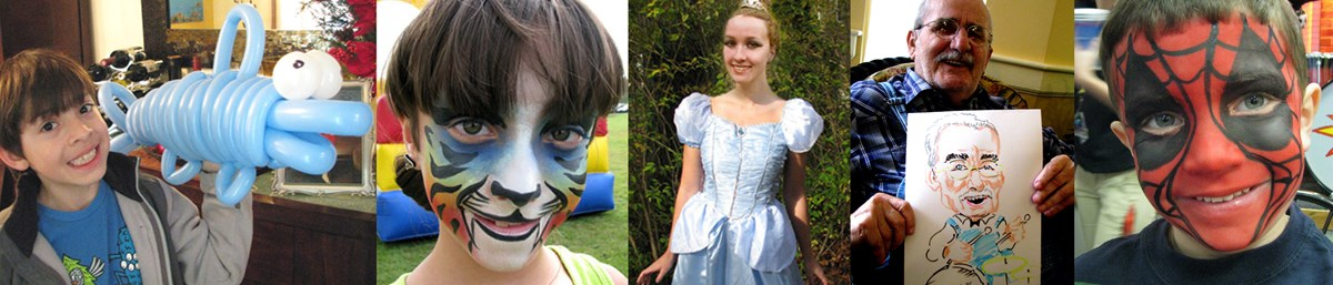 Face painting, Balloon twisting,Caricatures