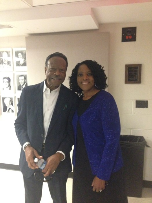 Backstage with Dr. Edwin Hawkins!