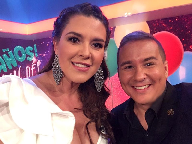 On Telemundo with Alica Machado