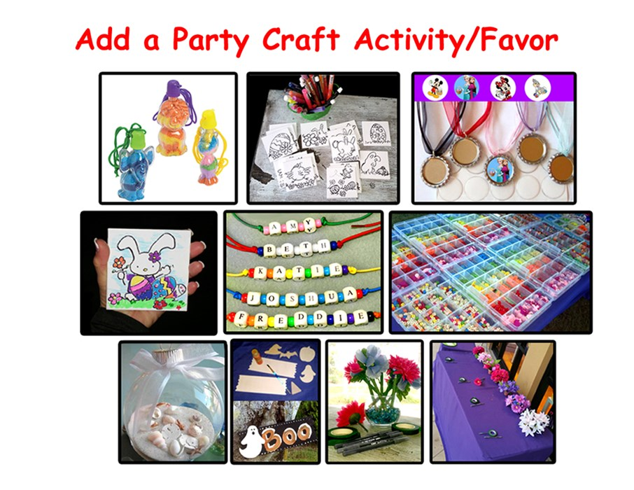 Add a Craft Station to your event.
