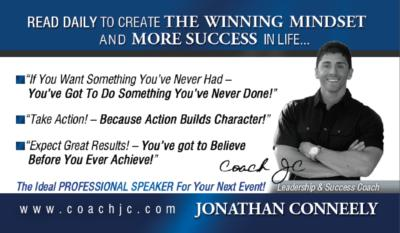 "LEADERSHIP- ""Coach JC""- Jonathan Conneely 