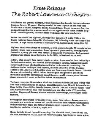 The Robert Lawrence Orchestra & Quartet | New York, NY | Big Band | Photo #15