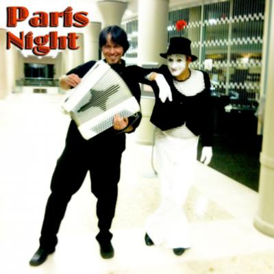 Paris night with #1 Mime!
